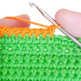 Урок выполнения узора Рачий шаг для отделки вязанных изделий