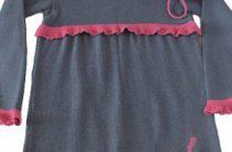 Идеи для детских платьев на вязальной машине