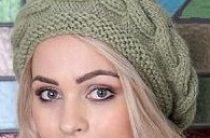 Еще одна шапочка-берет с поперечной косой