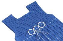 Простая схема кокетки крючком для детского платья
