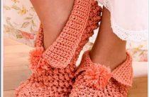 Идеи для вязания тапочек крючком фото