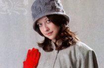 Комплект шляпка и сумочка Шахматные крючком