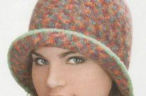Как связать крючком шапочку-шляпку по имени Меланжевая