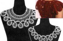 Вязание крючком летние платья и сарафаны схемы тесьмы для кокетки-пелерины