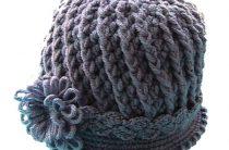 Рельефная шляпка крючком