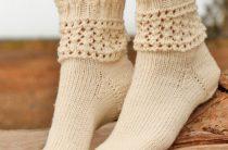 Хрустальные носочки спицами русский перевод описания вязания